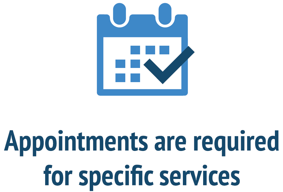 Appointment Only Services with Text